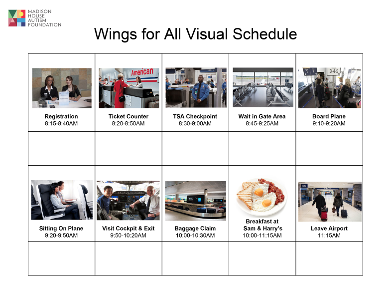 wings for all visual schedule